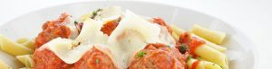 Delicious pasta and meatballs - The Pavilion - Sault Ste. Marie hotel