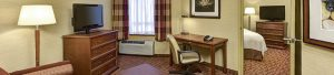 Two room suite for leisure or business stays.