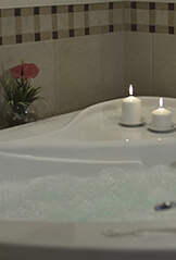 Whirlpool tub in your suite.