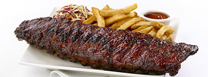 Casey's Grill.Bar's famous ribs - Restaurants Sault Ste. Marie