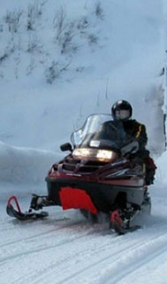 Snowmobile storage at Algoma's Water Tower Inn & Suites