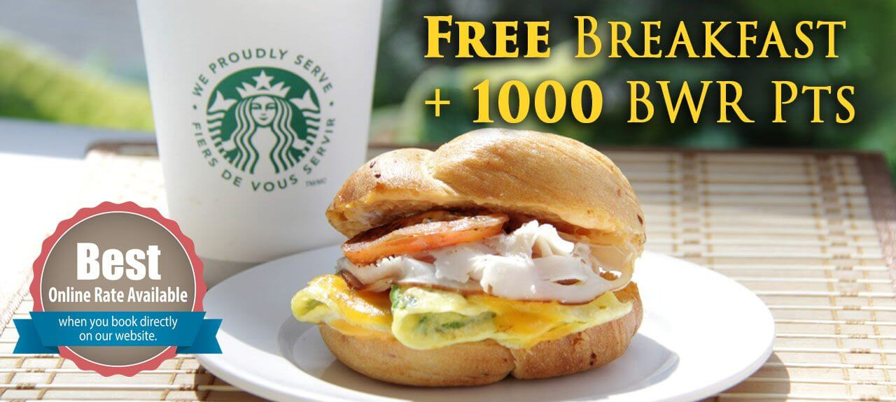 Summer Special with Free Breakfast and Best Western Rewards Points